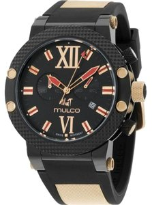 Mulco MW311010026 Men's Black Silicone Band With Black Analog Dial Watch