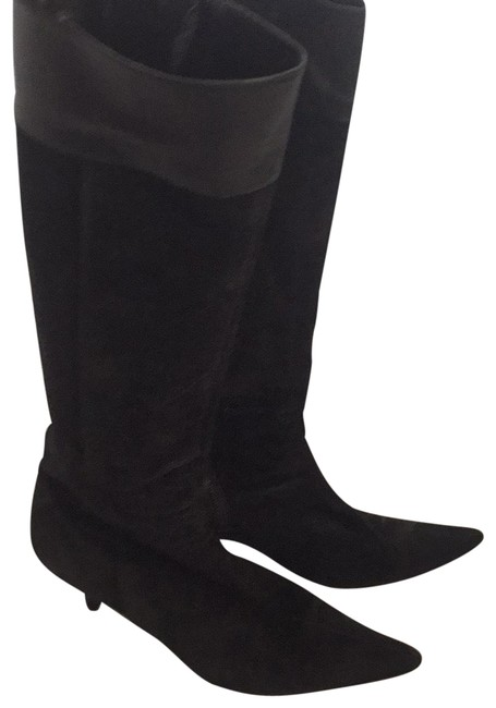 Item - Black Tall Suede Boots/Booties Size US 8 Regular (M, B)