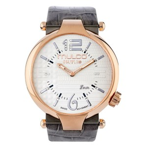 Mulco MW53183213 Women's Grey Leather Band With Mother Of Pearl Dial Watch