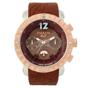 Mulco MW51876033 Unisex Brown Silicone Band With Brown Analog Dial Watch