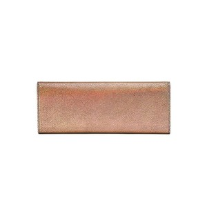 Gucci Broadway Crackled Metallic Leather Rose Gold Clutch