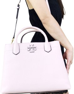 Tory Burch Mcgraw Triple Compartment Crossbody Satchel in Pink