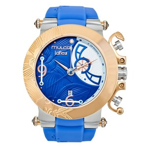 Mulco MW314003043 Women's Blue Silicone Band With Blue Analog Dial Watch