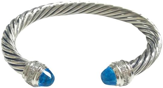 Preload https://img-static.tradesy.com/item/24135333/david-yurman-cable-blue-topaz-and-diamond-cuff-sterling-silver-7mm-size-medium-725-guaranteed-comes-0-1-540-540.jpg