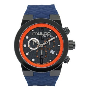 Mulco MW52552304 Men's Blue Silicone Band With Black Analog Dial Watch
