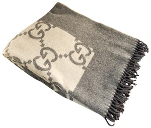 Gucci Gucci GG Tan/Brown Extra Large Blanket Throw