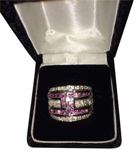 Other Pink Sapphire And diamond Band Ring