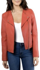 Bagatelle Biker Designer Red Leather Jacket