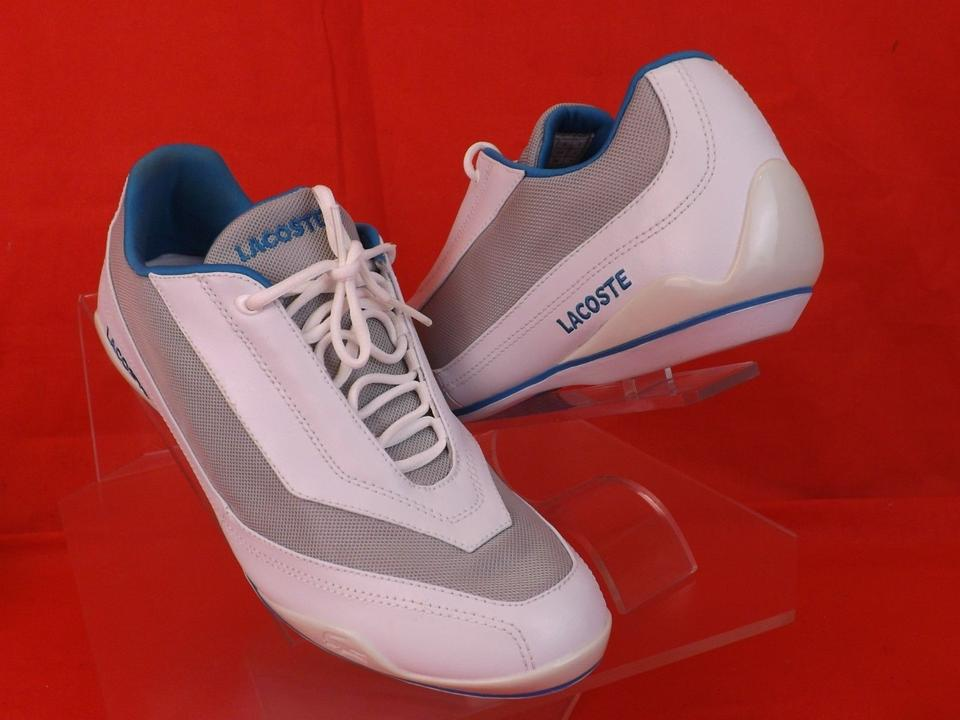 ba0ca9d6c6c55 Lacoste White Bionic Sport   Blue Plump Lace Up Sneakers Sneakers ...