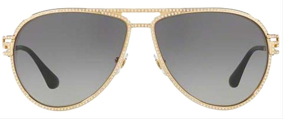 421fcc969085 Versace Versace Shiny Gold Women Aviator Sunglasses Metal Frame with Grey  Lens Image 0 ...