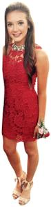 SAYLOR Detail Homecoming Embroidered Embellished Dress - item med img