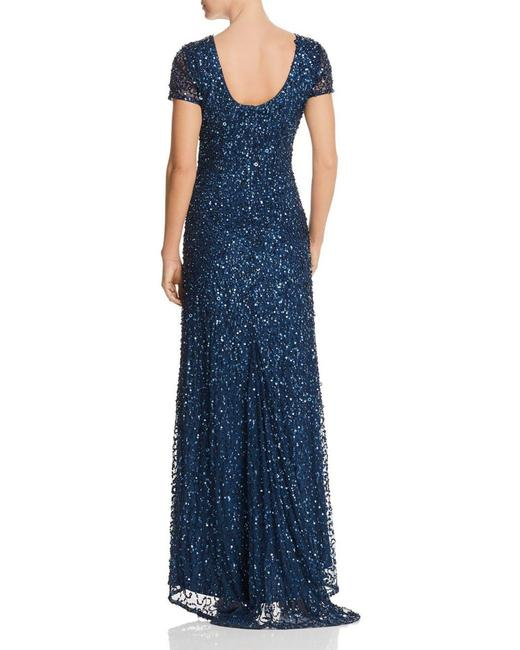Adrianna Papell Scoop Back Beaded Embellished Dress