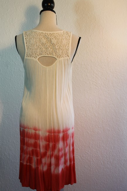 Ya Los Angeles short dress Orange and Cream Ombre Lace Trim Cut-out A-line Sleeveless Sundress on Tradesy