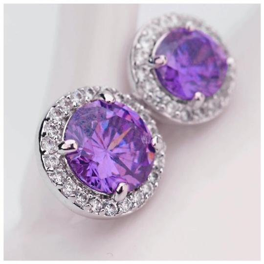 ME-Boutiques Private Label Collection Swarovski Crystals The Jacqui Purple Earrings S3