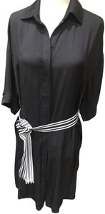 Black Maxi Dress by Maje Belted Classic