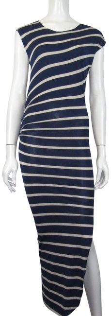Item - Navy and Beige Long Casual Maxi Dress Size 4 (S)