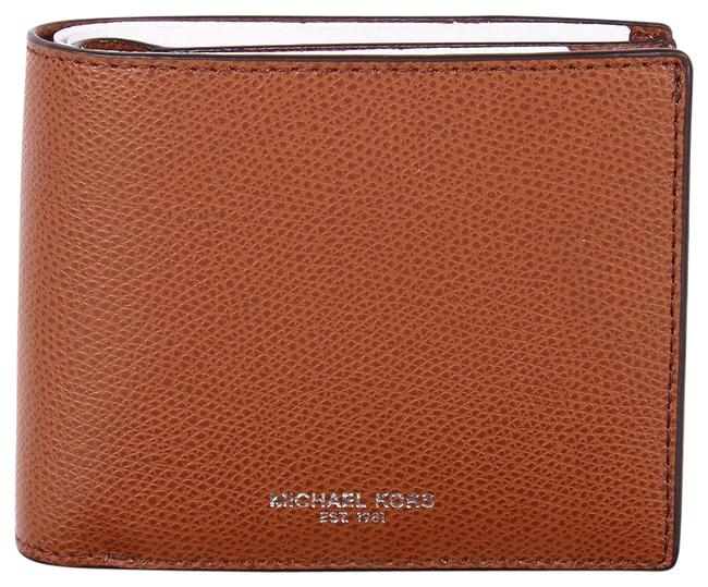 Michael Kors Brown Box Men's Warren Jet Set Passcase Billfold Gift Wallet Image 1