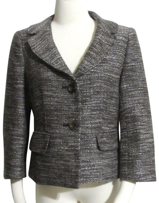 Ann Taylor Brown Tweed Short Length 3/4 Sleeve Dress Jacket Blazer Size 8 (M) Ann Taylor Brown Tweed Short Length 3/4 Sleeve Dress Jacket Blazer Size 8 (M) Image 1