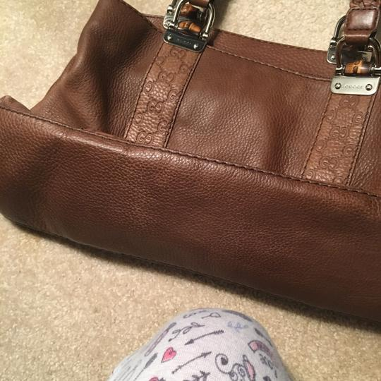 Gucci Satchel in camel brown, silver accents