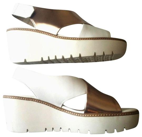 Geox Italian Sandals Platform ROSE GOLD WHITE Wedges