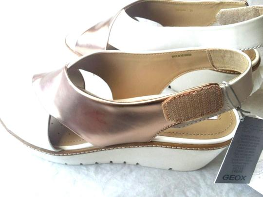 Geox Italian Sandals ROSE GOLD WHITE Wedges