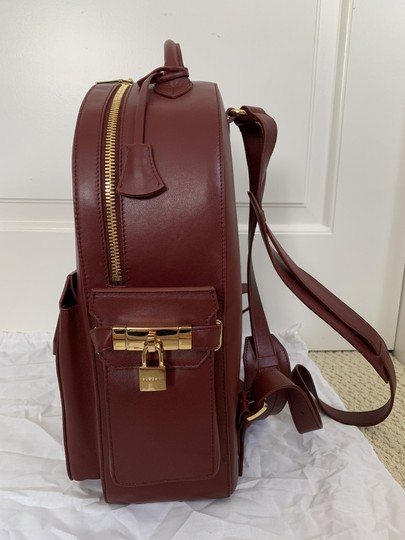 Buscemi Leather Zip Front Flap Backpack