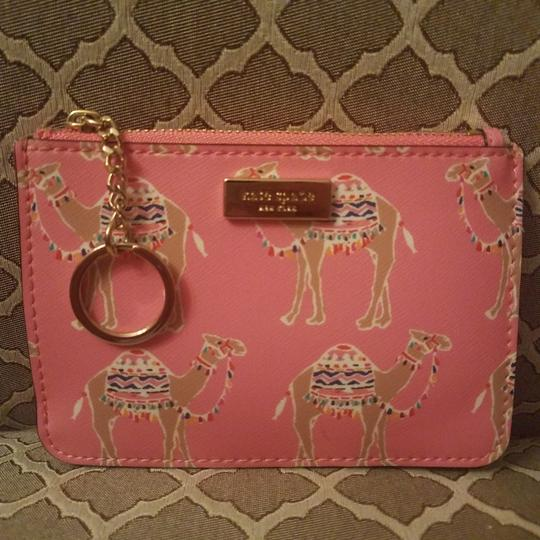 Kate Spade Spice Things Up Camel Keychain & Credit Card Wallet with Keychain