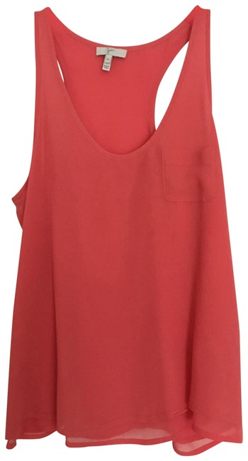Preload https://img-static.tradesy.com/item/24136295/joie-coral-pink-racer-bank-tank-blouse-size-0-xs-0-2-650-650.jpg