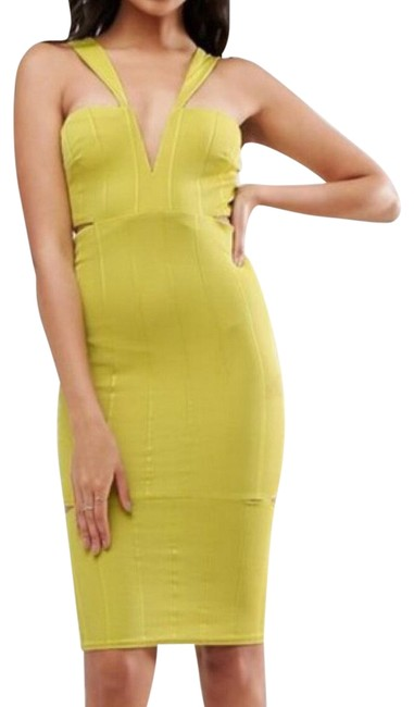 Preload https://img-static.tradesy.com/item/24136323/asos-chartreuse-bodycon-mid-length-cocktail-dress-size-2-xs-0-1-650-650.jpg