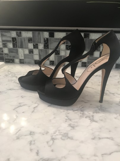 Saint Laurent Sandal Satin Black Platforms Image 6