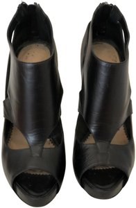 Emporio Armani Cut Out Stacked Heel black Platforms