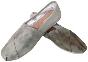 TOMS 8.5 W TOMS Agate Green Washed Canvas Flats
