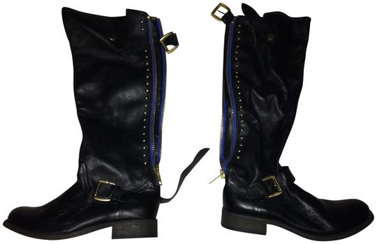 Preload https://img-static.tradesy.com/item/24136522/black-with-blue-and-gold-detail-bootsbooties-size-us-8-regular-m-b-0-1-540-540.jpg