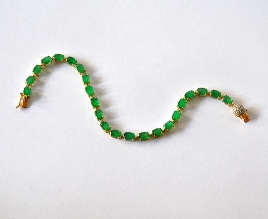 Other Natural Emerald 14k Gold Bracelet