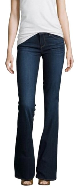 Item - Dark Blue Denim Rinse Skyline Wash Mid Boot Cut Jeans Size 26 (2, XS)