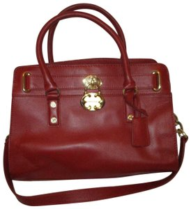 Emma Fox Leather Shoulder Cambridge 002 Satchel in red