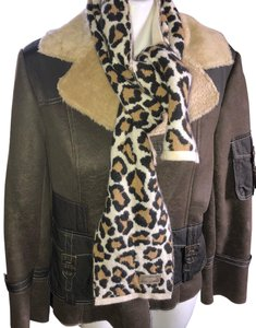 Coach Coach animal print scarf wool