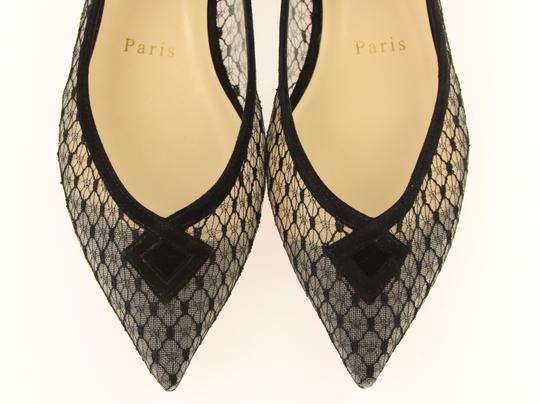 Christian Louboutin Mesh Formal Party Dressy Black Flats