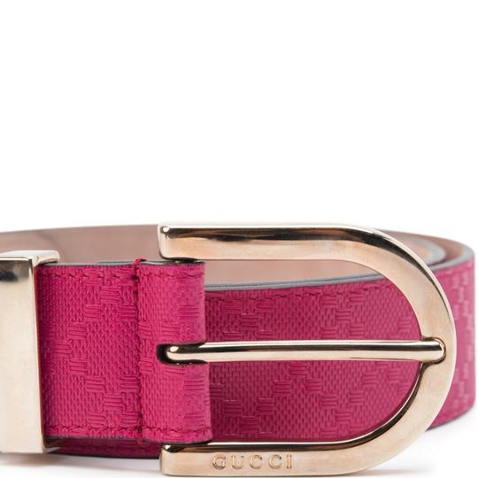Gucci Women/Men Diamante Leather W/Gold Buckle Size 32 Belt Image 2