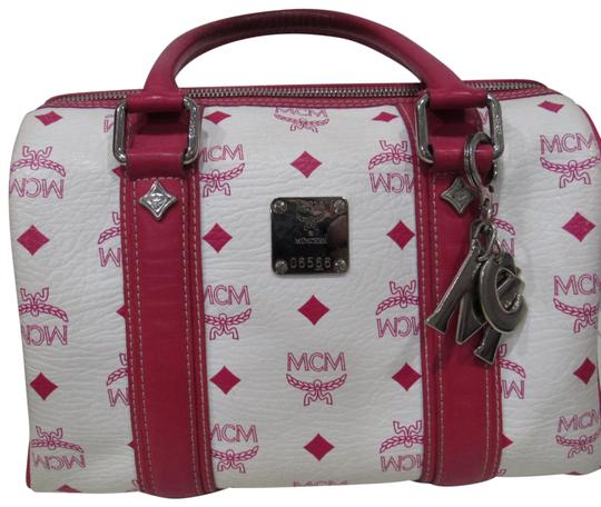 Preload https://img-static.tradesy.com/item/24136762/mcm-white-and-pink-leather-satchel-0-1-540-540.jpg