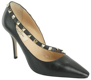 Valentino Poudre Strappy Formal Party Black Pumps