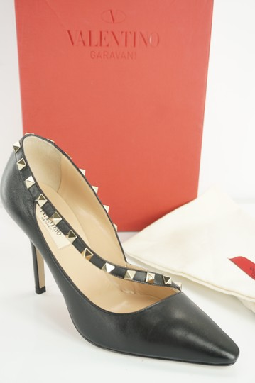 Valentino Poudre Strappy Formal Party Black Pumps Image 3