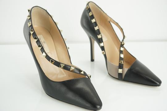 Valentino Poudre Strappy Formal Party Black Pumps Image 5