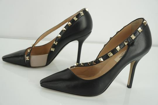 Valentino Poudre Strappy Formal Party Black Pumps Image 6