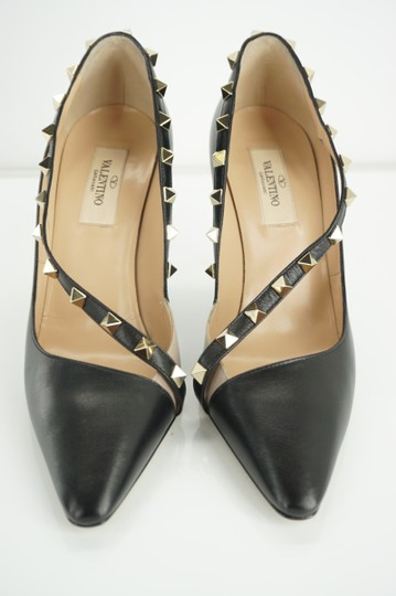 Valentino Poudre Strappy Formal Party Black Pumps Image 8