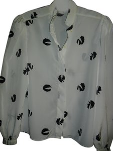 Nipon Boutique Button Down Shirt black, white