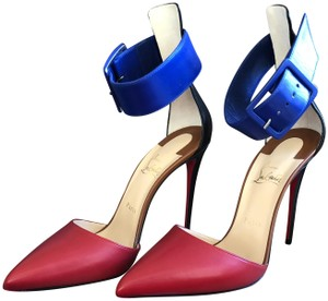 Christian Louboutin Red and blue Sandals