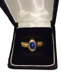 Other 18K Blue Sapphire And Diamond Ring