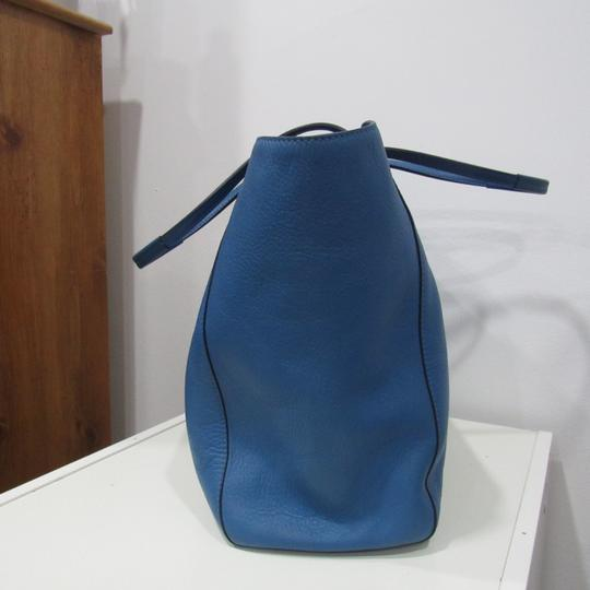 MCM Leather Tote Bag Tote in pastel blue
