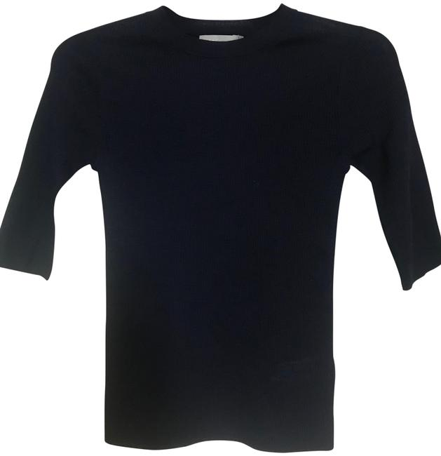Vince Navy XS Blue Short-sleeve Wool Crewneck Tee Shirt Size 2 (XS) Image 0